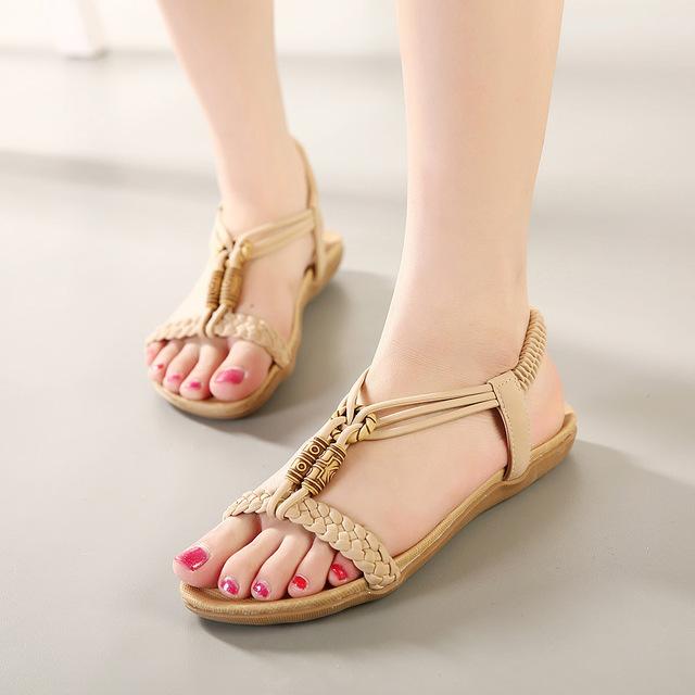 Женщины 2016 новые женские мода чешские сандалии женщин Большой размер 35 - 42 т ...