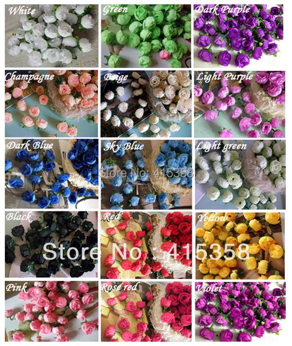 101.2'' Artificial Flowers Silk Rose Heads Flower DIY Home Party Wedding Decorative Simulation flowers - Dong zhongqiang's store