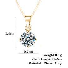 Christmas Gift Fashion Geometry choker Crystal Zircon Necklace Luxury Fine Jewelry Necklaces For Women collares 2015