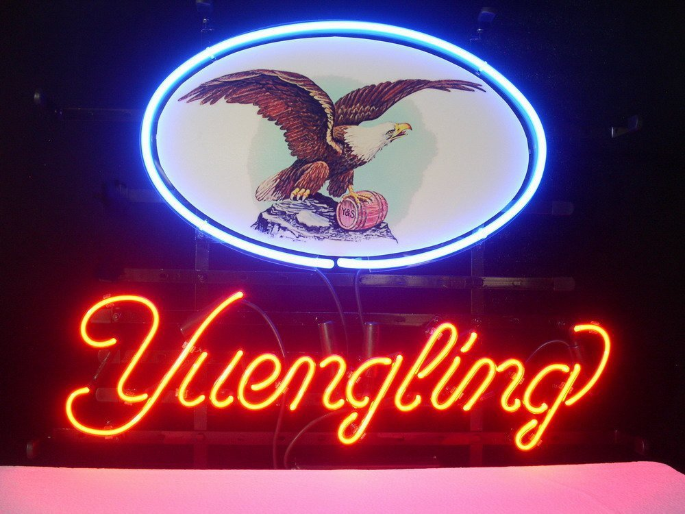 FS-Neon-Sign-Yuengling-Lager-Eagle-Handcrafted-Real-Glass