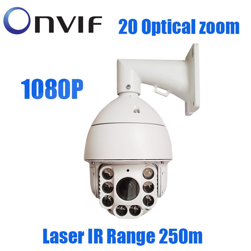 2.0MP 1080P IP PTZ 20X Zoom Outdoor 250m IR Laser Network IP Onvif Security surveillance Camera(China (Mainland))