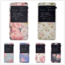 Buy Flower Patterns Magnetic View Window Stand Flip Leather Case For Samsung Galaxy A5, 2016 A510 A5100 A510F SM-A510 Cover case for $3.90 in AliExpress store