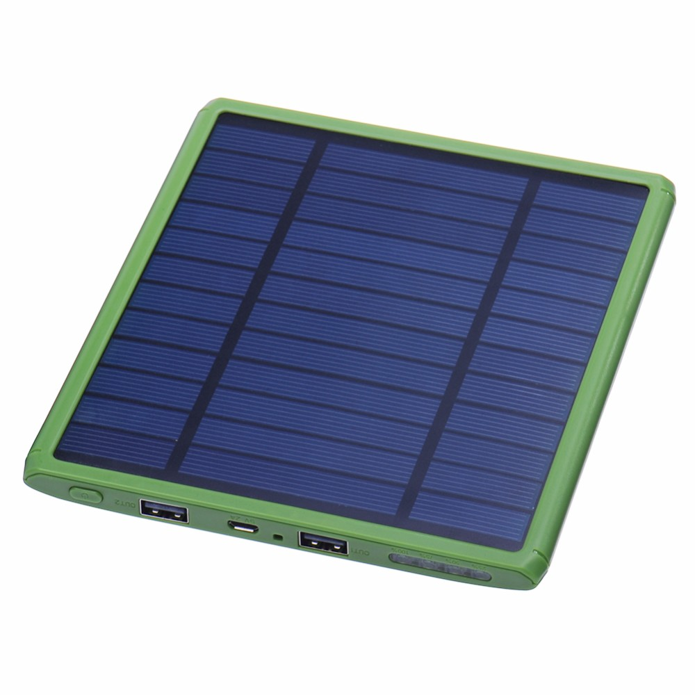 Ultra slim 10000mah Portable Solar Charger Power Bank Dual USB mobile power outdoor External Battery charger for cell phone(China (Mainland))