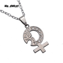 New Arrival Male Female Love Couple Necklace Set Vintage Stainless Men Necklace Paired Pendants for Lovers
