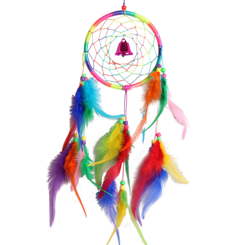 2016 Hot Indian Original Dream Catcher Feathers Hanging Craft Dreamcatcher Hourse Decoration Gifts Free Shipping LH8s