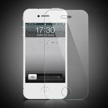 3pcs for screen film iphone4 4s premium protective tempered glass screen protector guard ecran protecteur pelicula vidro phone 4