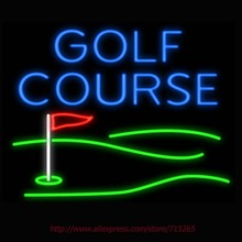 Neon Sign Golf Course Flag Real Glass Tube Handcrafted neon signs Custom Sports Neon Lamp Recreation Windows Signs 31x24(China (Mainland))