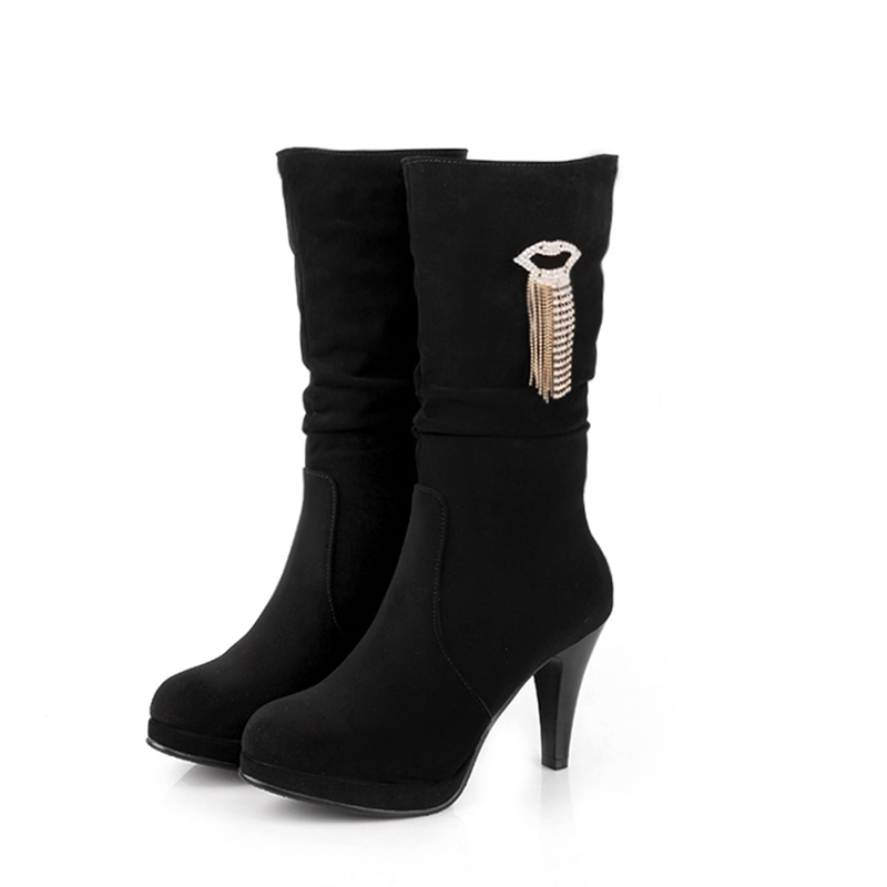 Womens Long Black Boots Sale