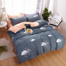 Hot Design Bedding Set Plant cactus happy time Duvet Cover Flat Sheet Pillowcase Quilt Cover Bed Set Full Queen King(China)