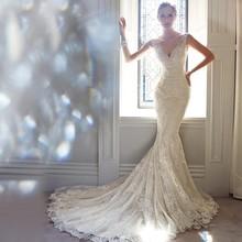 Buy ZGS271 vestido de noiva Custom Made China Wedding Gowns robe de mariage Luxury Cap Sleeves Lace Mermaid Wedding Dresses 2017 for $157.00 in AliExpress store