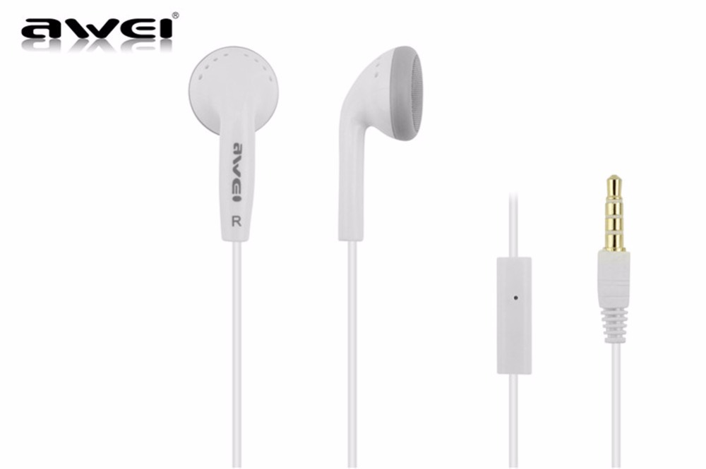 Awei ES-11 3.5mm In-ear Earphones Super Clear Bass Stereo Noise isolating Earbud for MP3 MP4 Cellphones with MIC(China (Mainland))