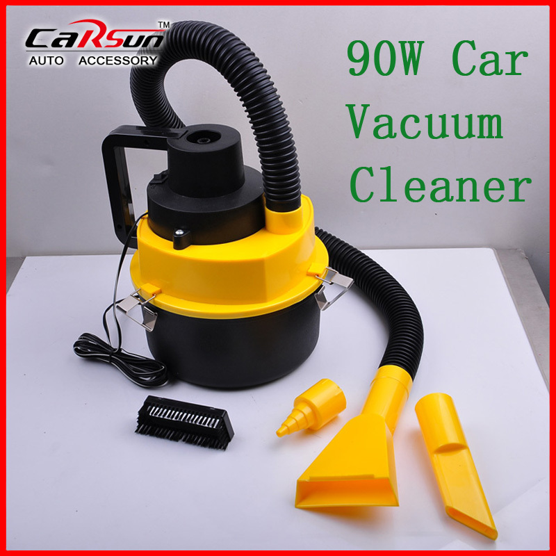 New Arrival Mini DC 12V 90W High-Power Wet And Dry Portable Handheld Car Vacuum Cleaner Orange Color YF-002(China (Mainland))