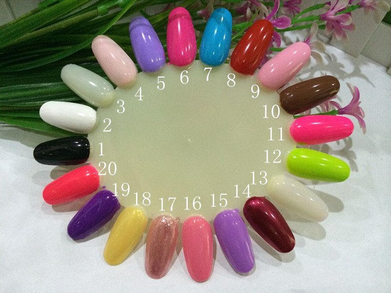 1PC 7ml Nail Polish Candy Color Nail Stamping Polish Nail Polish <font><b>Nailpolish</b></font> Nail Lacquer 60 Color DIY Home Uses