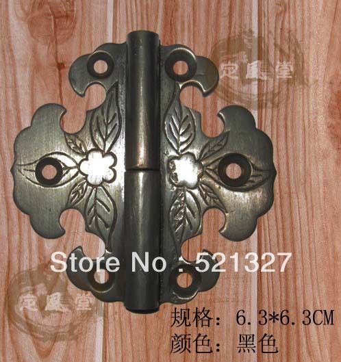 Antique furniture, copper  hinge box CH-014 6.3CM black
