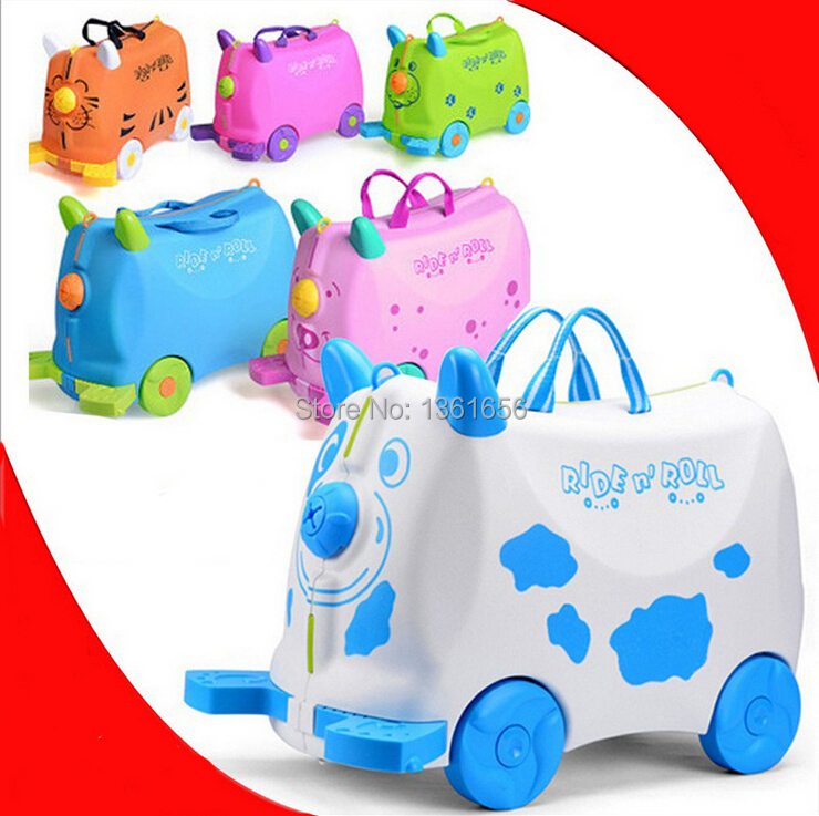 High-quality Toys Bag,Ride On Toy,Cartoon Ride On Car,18'' Baby Suitcase,Kid Luggage Travel Bag,ABS,5 Colors,2KG,CA014(China (Mainland))