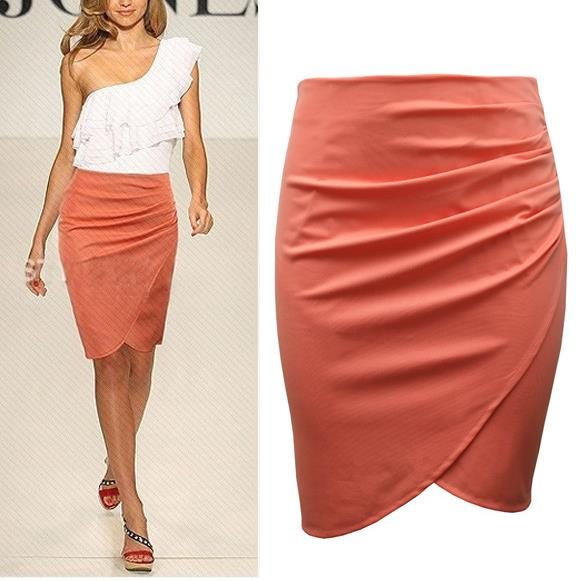 Office Woman Skirt summer Knee length Pencil Skirts 2015 Plus Size Casual Formal Step OL Suit