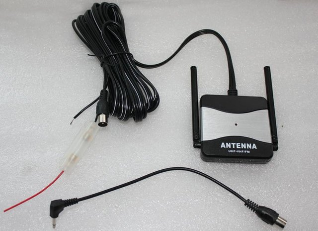 Free shipping--Car TV Antenna Amplifier+Booster--two poles out door tv antenna(BO-93)
