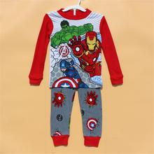 New 2015 boys children kids clothes clothing sets next 1 set / lot Winter Autumn Warm Pajamas fashion sleepwear suits(China (Mainland))