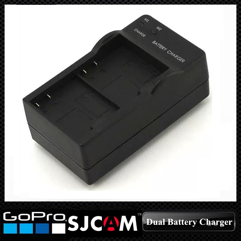 DHL Free Shipping 50pcs/lot US Plug Wholesale Sport SJCAM Camera Dual/ Two/ Double Battery Charger for SJ4000 SJ5000 Series(China (Mainland))