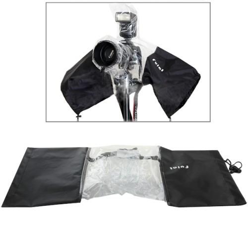 Открытый стрельба анти дождевик с до 20 см линзы 15 см фонарик покрытия slr камеры Черный высокого качества