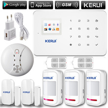 KERUI G18 English/Russian Voice GSM Autodial Home Security Alarm System+iOS App/ Android App Sensor Alarm Security System home(China (Mainland))