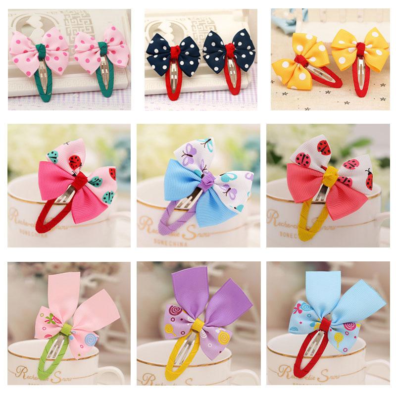 Hot Sale Brand New Cute Cartoon Dots Baby Bowknot BB Hairpins Handmade Hair Clips Barrettes Headdress Kids Girls Accessories(China (Mainland))