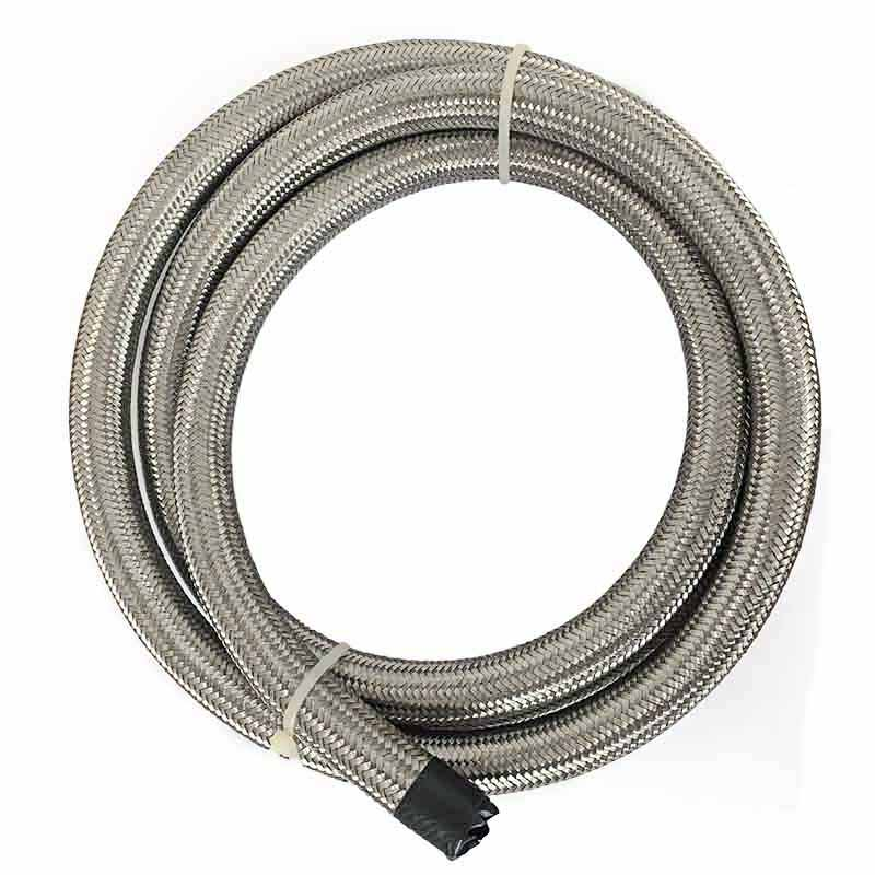 3M AN8 Universal Car Turbo Oil Cooler Hose Oil Fuel Hose Stainless Steel Oil Hose Double Braided Fuel Hose Line 10FT Silver(China (Mainland))
