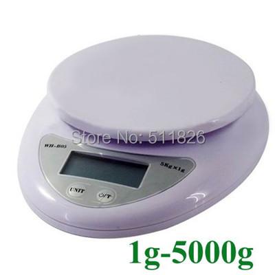New 5kg 5000g/1g Digital Kitchen Food Diet  balance weight weighting LED Scale