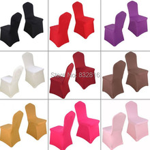 4PCS/LOT Wholesale Spandex Chair Cover For Wedding Lycra Banquet Chair Covers Stretch Chairs Cover housse de chaise mariage(China (Mainland))