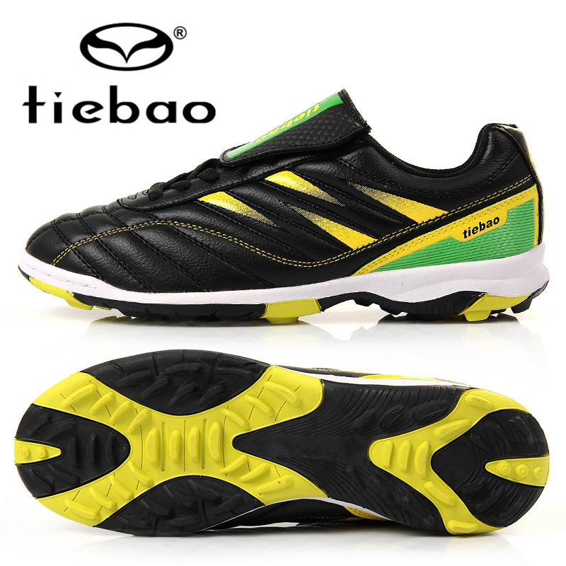 TIEBAO Professional Outdoor Football Boots Athletic Training Soccer Shoes Men Women TF Turf Rubber Sole Shoes zapatos de futbol(China (Mainland))