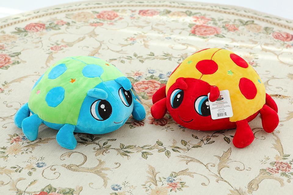 Lovely 22cm cartoon ladybug plush toy/Coccinella septempunctata doll/dream Octopus doll/favourite present/Christmas gifts(China (Mainland))