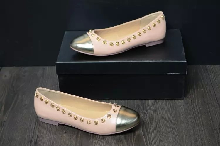 NEW spring autumn CC Slip On Comfort Leather Loafer Ballet Flats Women Casual Shoes size42