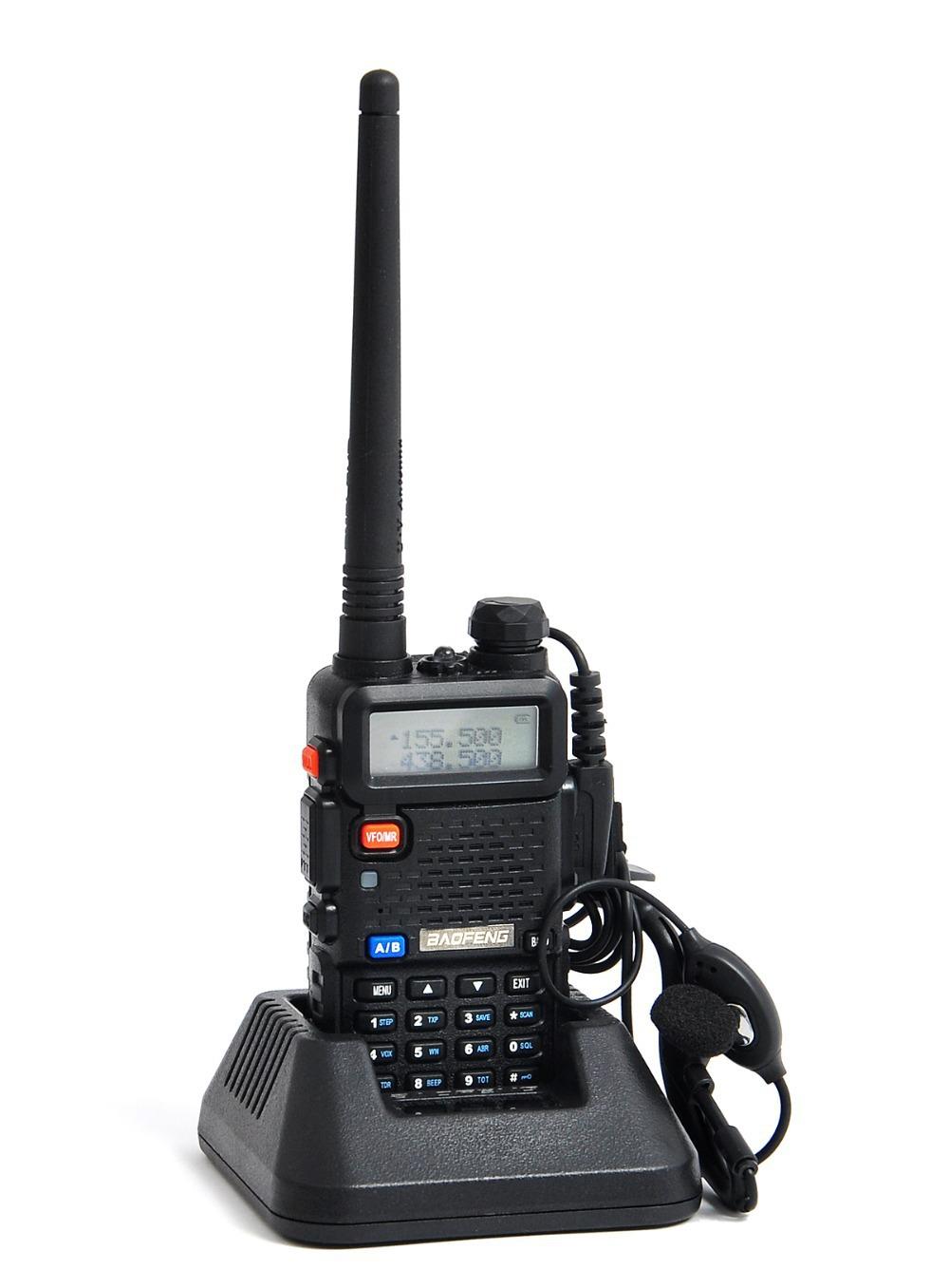 New BaoFeng UV-5R Portable Radio UV 5R Walkie Talkie 5W Dual Band VHF&UHF 136-174Mhz & 400-520Mhz Two Way Radio UV5R A0850A(China (Mainland))