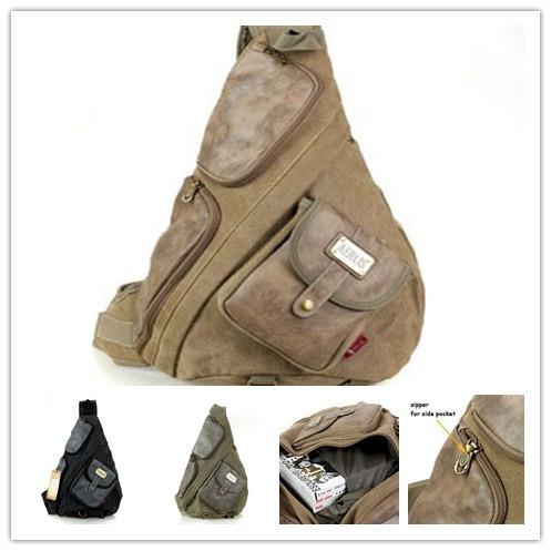 2015 новых людей винтаж холст грудь пакеты охота тактический сумки с кожаными для ...