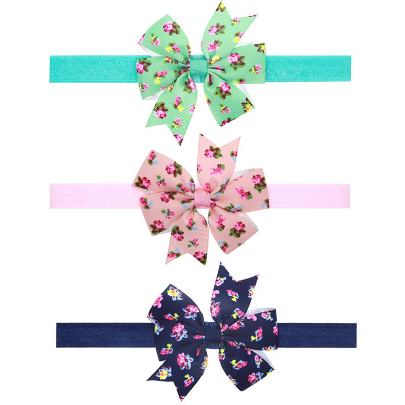 Cute New infant Baby bows flower Headband ribbon Hair Band butterfly DIY Toddler Hair Accessories Pink Purple green 1pc HB058(China (Mainland))