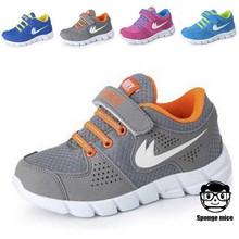 2016 nuevo estilo zapatos de marca para niños chicos chicas zapatillas tamaño 25-37 de ocio infantil entrenadores transpirable zapatos de los niños(China (Mainland))