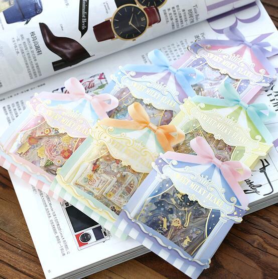 Min Order is $5,(15 Pcs/Lot) 6 Styles DIY Scrapbooking Stickers 3D Bronzing Epoxy Wedding Album PET Craft Decoration Papelaria(China (Mainland))