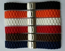 Lowest Price!! New Waterproof  Silicone Rubber Watch Wrist watch Strap Band Replacement 22mm 24mm 10,000 LB Rating Flat Head
