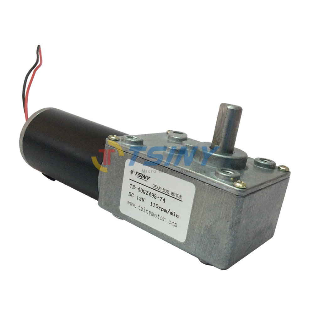 Electric Dc 12v Worm Geared Motor High Speed 110rpm