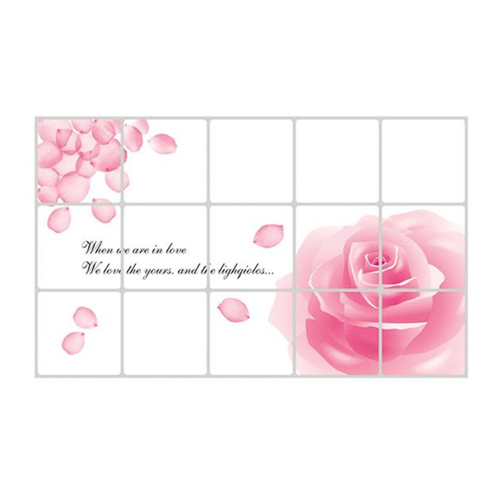 New High Quality Rose kitchen decal Korea High-grade oilproof sticker kitchen wall stickers Home Decor(China (Mainland))
