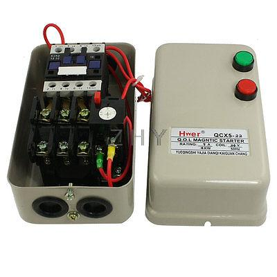 24v Coil Ac Contactor 4 Kw 5 5 Hp 3 Phase Motor Magnetic