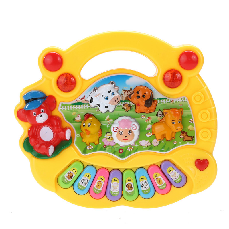 Baby Educational Piano Kids Toys Music Musical Developmental Animal Farm Piano Sound Learning Toy for Children Gift(China (Mainland))