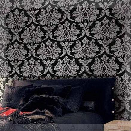 black damask wallpaper in bedroom galleryhip com the