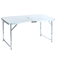 Drop shipping, Outdoor Aluminum Portable Folding Camping Table Party Dining 4ft Desk +Carrying Handle(China (Mainland))