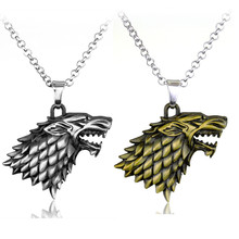 New Styles Game of Thrones Necklace Family Crest Casterly Rock House Stark Lannister Silver Metal Pendant Neckalce men jewelry(China (Mainland))