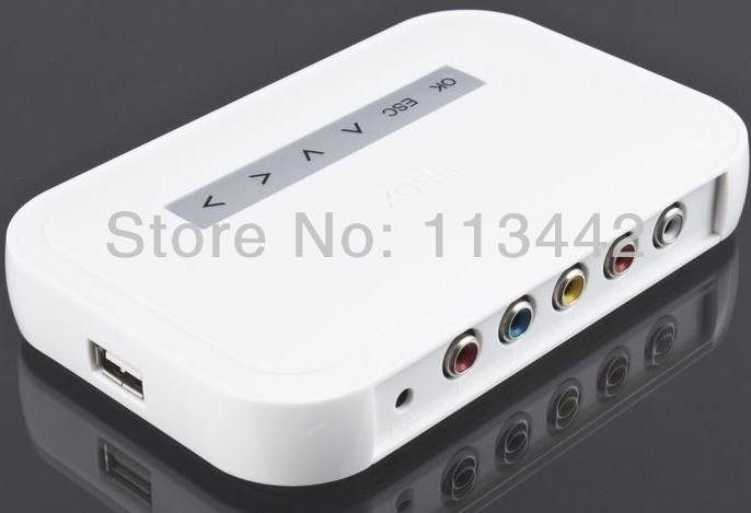 Free shipping NEW NBOX TV USB TO HDD MP4 RM RMVB MPEG AVI player NBOX T HD TV SD Card Flash Hard Drive Disk Media Player(China (Mainland))