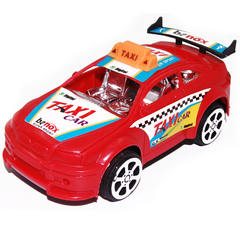cheap toys crazy taxi cars plastic model car and pull back car kit toys car children