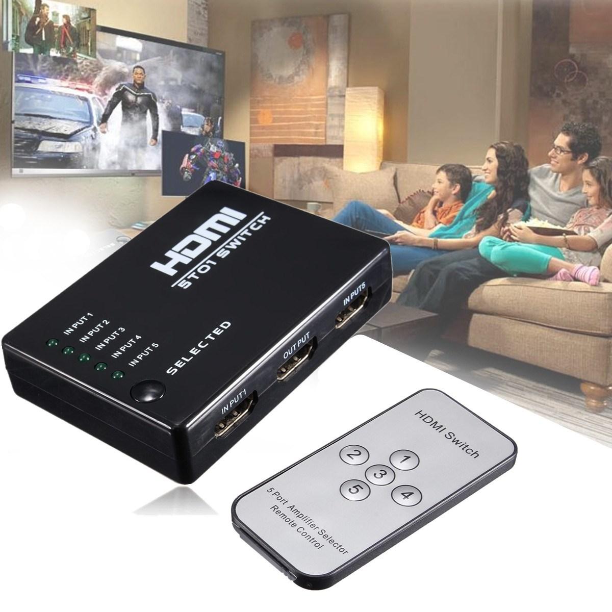 HDMI True Matrix 3 / 5 Port HDMI Switch Switcher HDMI Splitter Hub Box for PS3 for Xbox 360 HDTV DVD with IR Wireless Remote(China (Mainland))