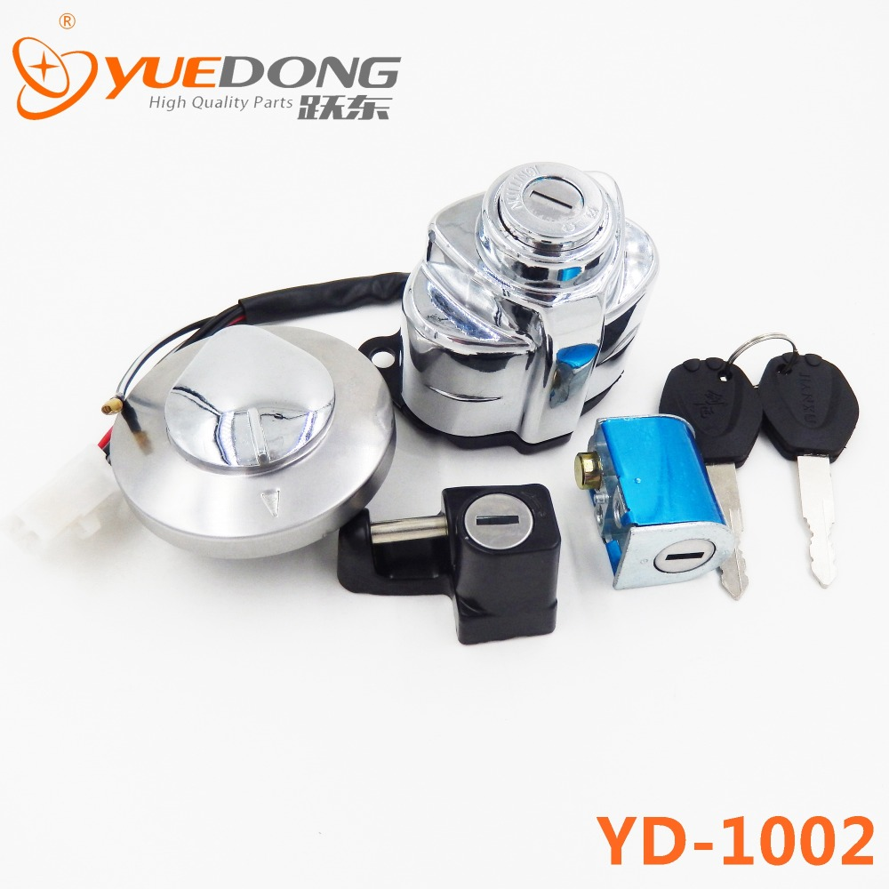 YUEDONG High Quality Ignition Gas Cap Steering Latch Lock Key Set Motorcycle For Honda Shadow VT(China (Mainland))