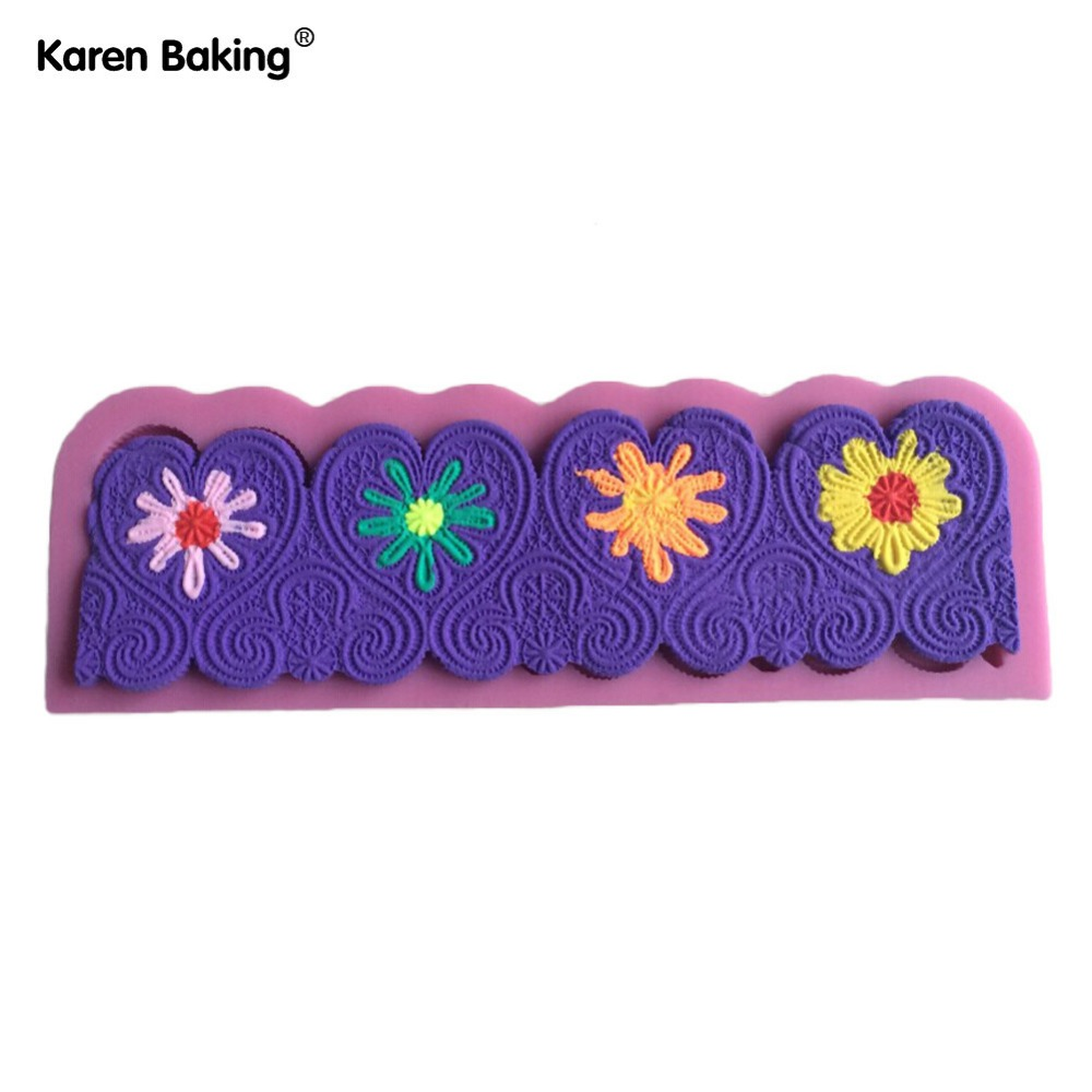 Chocolate Candy Jello 3D Beautiful Flower Silicone Fondant Lace Mold Mould Cake Decoration/Pastry Tools, Y015(China (Mainland))